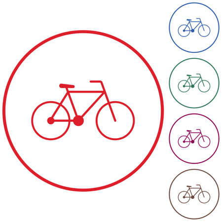 Bicycle  bike icon vector illustration