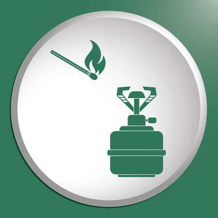butane: Camping stove icon vector. Vector illustration.