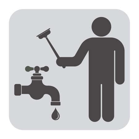 Plumbing Arbeit Symbol Symbol. Vektor-Illustration