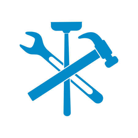 Plumbing work symbol icon vector illustration Illustration