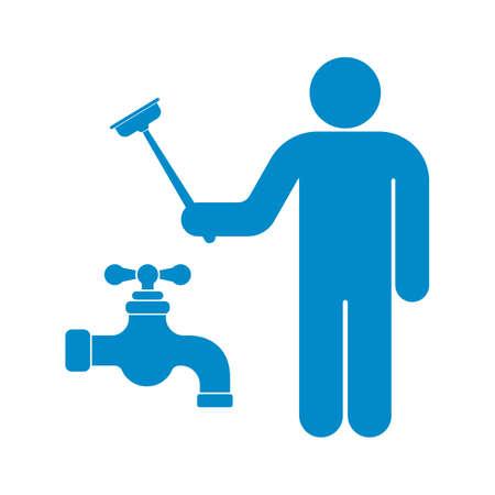 Plumbing Arbeit Symbol Symbol Vektor-Illustration