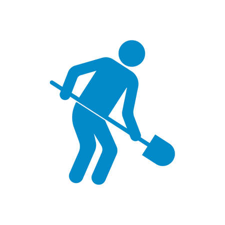Digger with shovel icon vector illustration Illustration