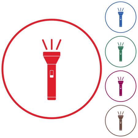 lite: Flashlight icon. Portable torch vector isolated illustration Illustration