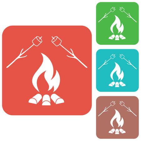 Zephyr on skewer icon vector illustration Illustration