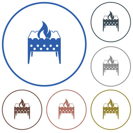 Camping brazier icon vector illustration Illustration
