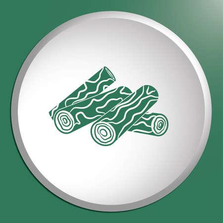 salamandre: Bois de chauffage pour icône feu de feu. Illustration vectorielle Illustration