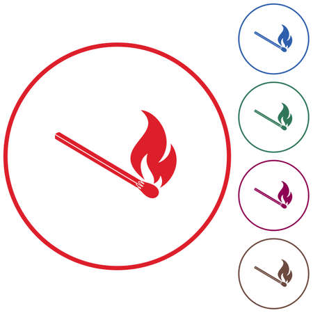 Match fire icon vector. Vector illustration