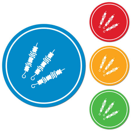 Grilled kebab icon. Vector illustration