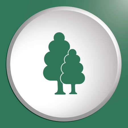 Deciduous forest icon.