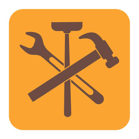 tube wrench: Plumbing work symbol icon. Vector illustration