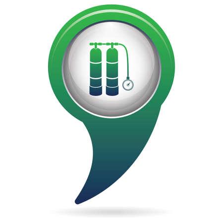 Scuba icon design.