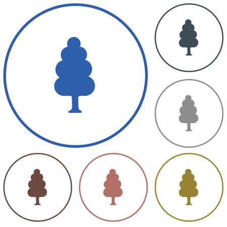 Deciduous forest icon.