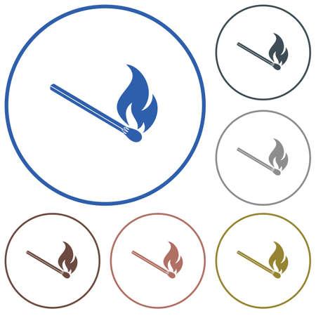 Match fire icon  illustration. Ilustração
