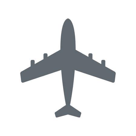 Pplane icon simple flat vector illustration Illustration