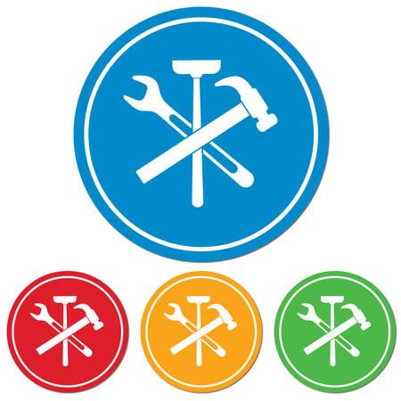 toilet: Plumbing work symbol icon. Vector illustration