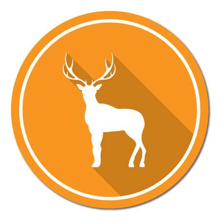 icon series: Silhouette of the deer. Flat deer icon.