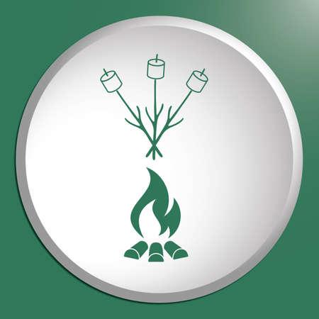 Zephyr on skewer icon. Vector illustration Stock Vector - 84220062