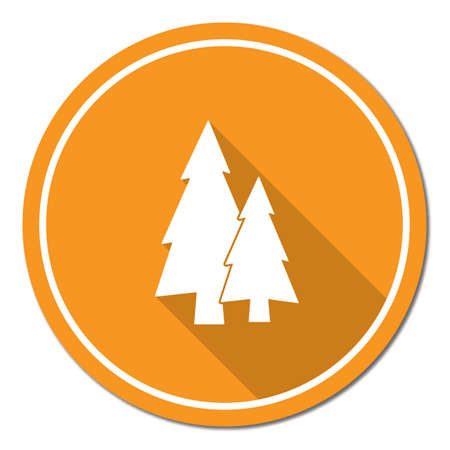 Fir Trees forest flat icon  Illustration