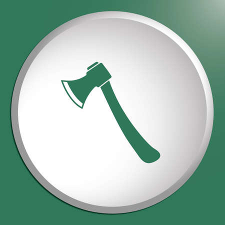 The ax icon. Axe symbol. Flat Vector illustration