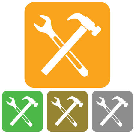 ware: Plumbing work symbol icon. Vector illustration