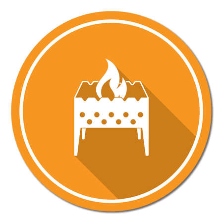 Camping brazier icon. Vector illustration Illustration