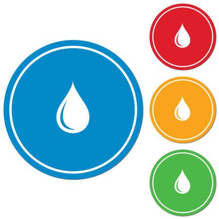ooze: Water drop icon. Vector illustration