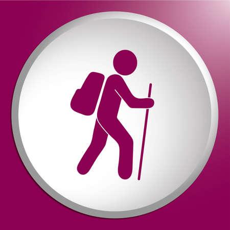 Pictogram geïsoleerde vector het tekensymbool van het wandelingspictogram illustratie