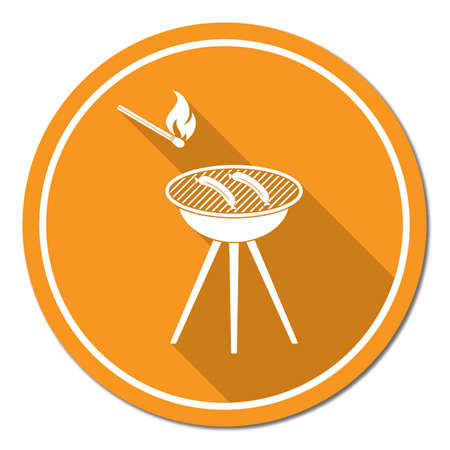 Barbecue sausage icon. Stock Vector - 85420784