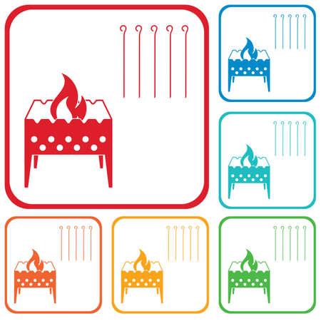 Camping Brazier icon Vector illustration