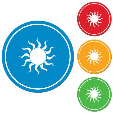 ray of light: Sun stylized image icon. Vector illustration   Illustration