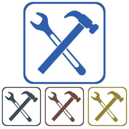 drop water: Plumbing work symbol icon. Vector illustration