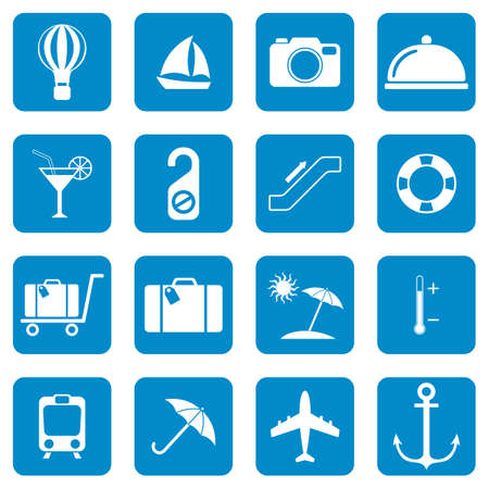 Set of icons for travel services Vector illustration Illustration