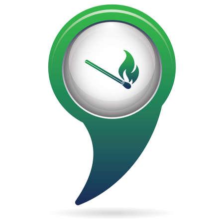 Match fire icon vector. Vector illustration Ilustração
