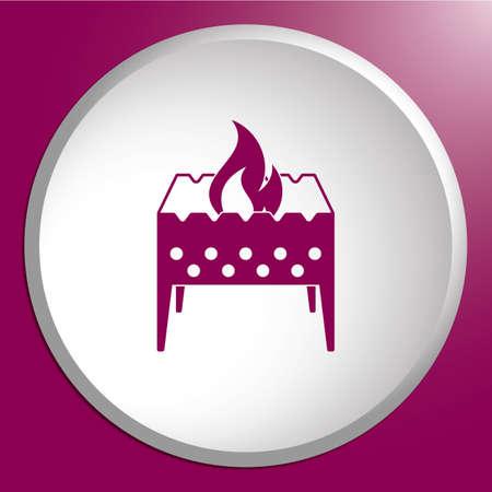 Icône de camping brazier. Illustration vectorielle