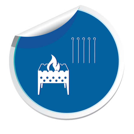 Camping brazier icon illustration. Illustration
