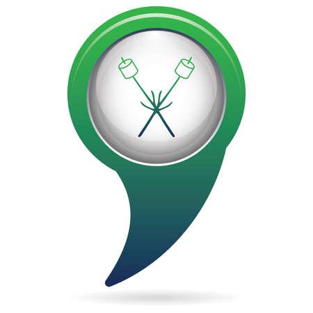 Zephyr on skewer icon. Vector illustration Stock Vector - 86915680
