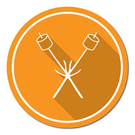 Zephyr on skewer icon. Vector illustration Stock Vector - 87570605