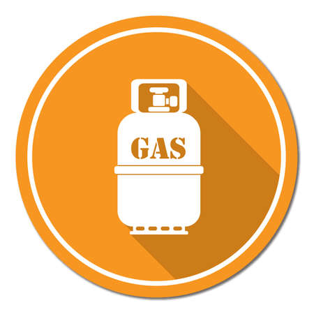 paintings: Camping gas bottle icon. Flat icon isolated. Vector illustration Illustration