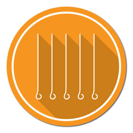 chafing dish: Skewers set icon. Vector illustration