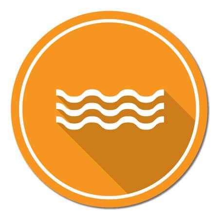 swirl: Water waves icon. Vector illustration