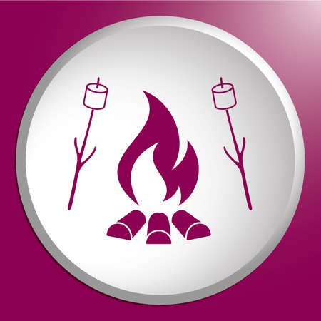Zephyr on skewer icon. Vector illustration Иллюстрация