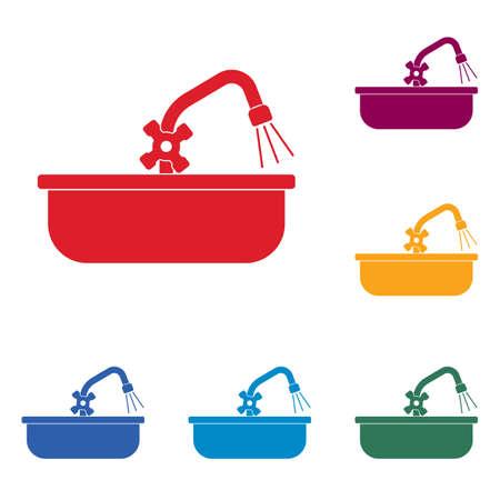 Plumbing work icon.