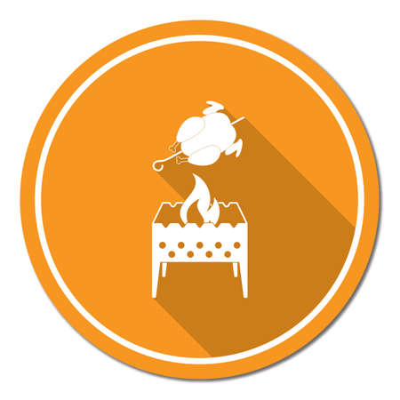 Grilled chicken icon. Stock Vector - 88523844