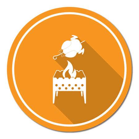 Grilled chicken icon. Illustration