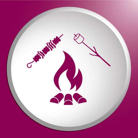 grillé icône de kebab