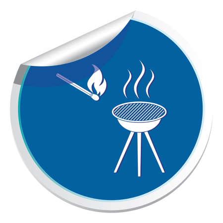 The barbecue icon.