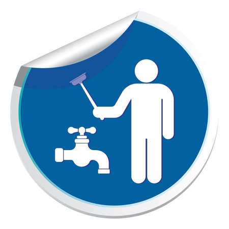 Plumbing work symbol icon. Illustration