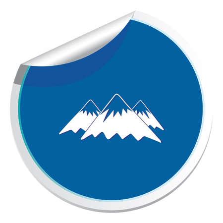 Mountain icon Vector illustration Illustration