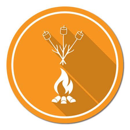 Zephyr on skewer icon Illustration