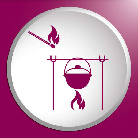 Fire and pot icon.